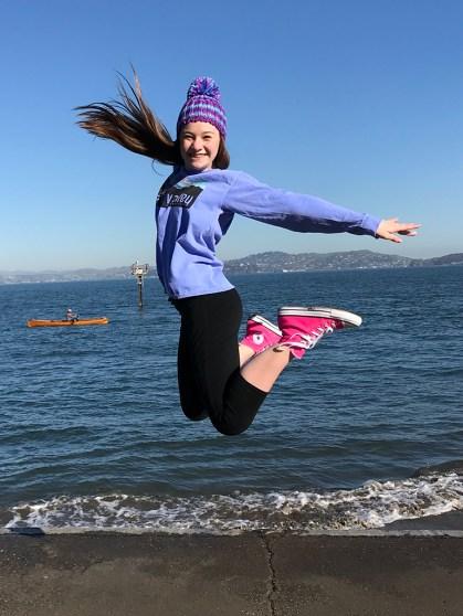 Natalie Bourn At The San Francisco Bay