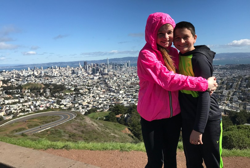 Natalie and Carter Bourn Standing On The Twin Peaks Overlook