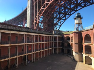 View into San Francisco's Fort Point From The Roof