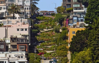 San Francisco Lombard Street Trolley Stop