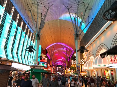 Video and Lights Canopy over Las Vegas' Fremont Street