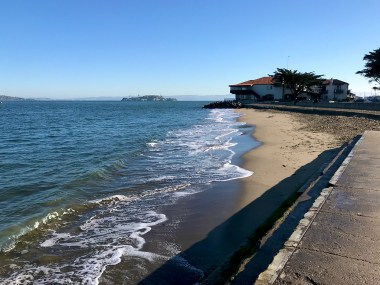 View of Alcatraz From Marina End of Crissy Field