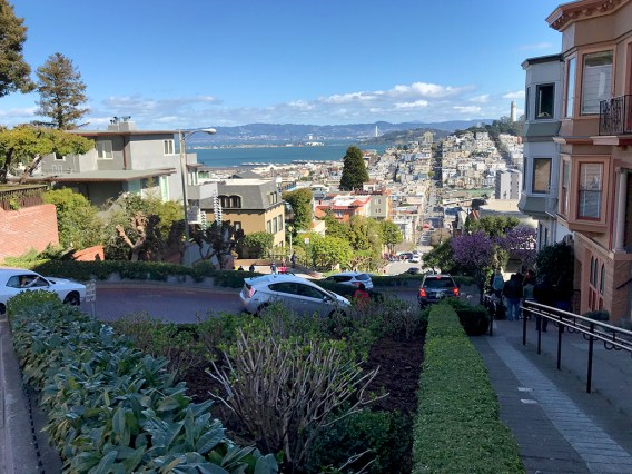 Walking the Staircases along Lombard Street
