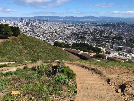 Windy Views From North Peak in San Francisco