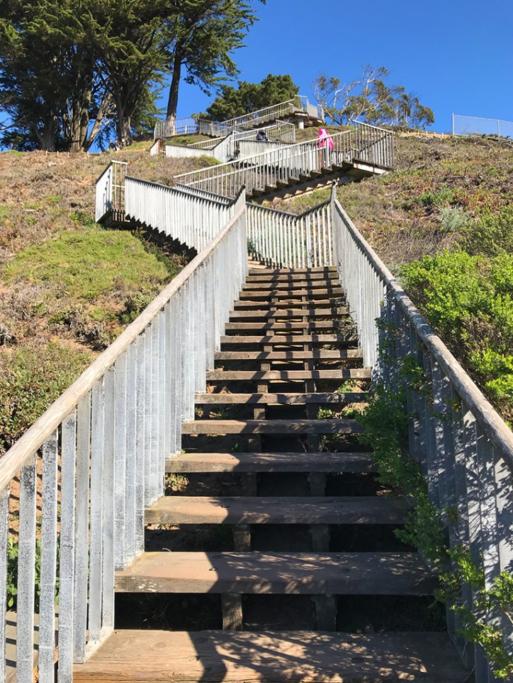 Wooden Staircases Up Turtle Hill to Grand View Park