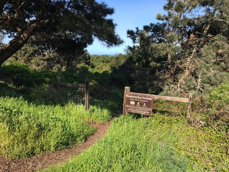Mendocino Bay Overlook Trailhead