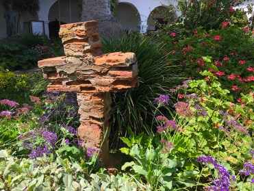 Brick Cross In The Mission San Diego Garden