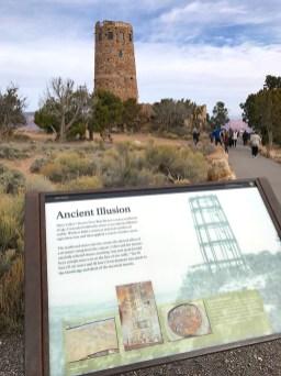 Desert View Drive Watchtower Interpretive Sign