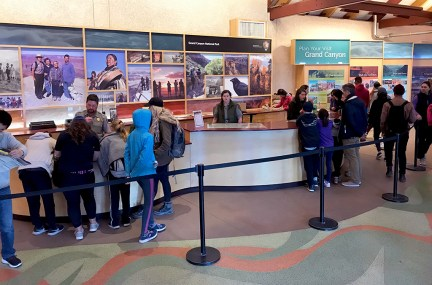 Grand Canyon Visitor Center Information Desk