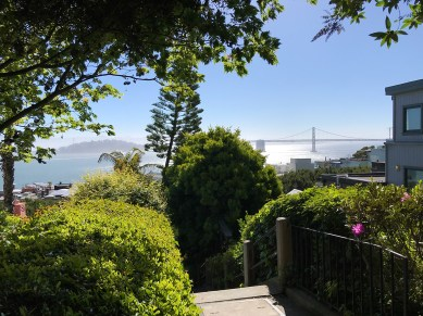 Bay Bridge View From The Filbert Street Steps