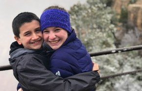 Carter and Natalie Bourn In The Snow At Grand Canyon National Park