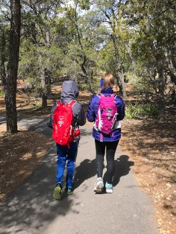 Carter and Natalie Bourn Hiking The South Rim Trail at Grand Canyon National Park