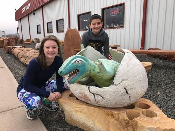 Dinosaur Statues at Jim Gray's Petrified Wood Co.