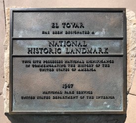 El Tovar National Historic Landmark Plaque