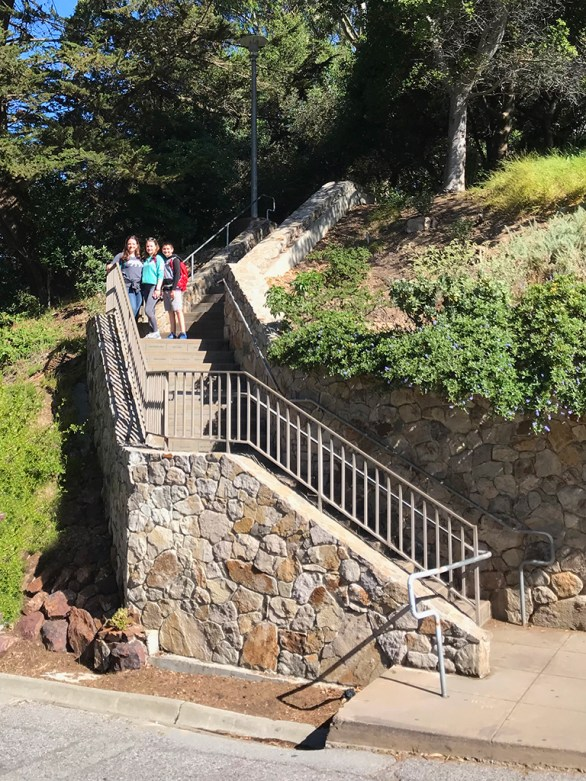 Steps to Coit Tower in San Francisco