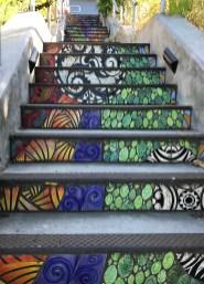 FLights of Fancy Tiled Steps