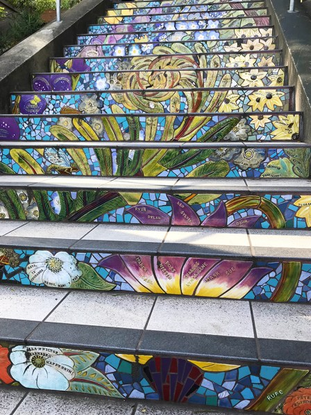Secret Tiled Staircase in San Francisco's Golden Gate Heights Neighborhood