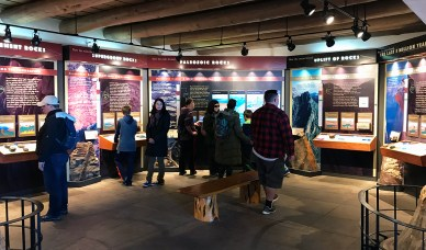 Informational DIsplays and Exhibits inside the Yavapai Geology Museum