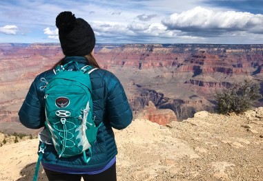Jennifer Bourn at Maricopa Point Scenic Overlook in Grand Canyon