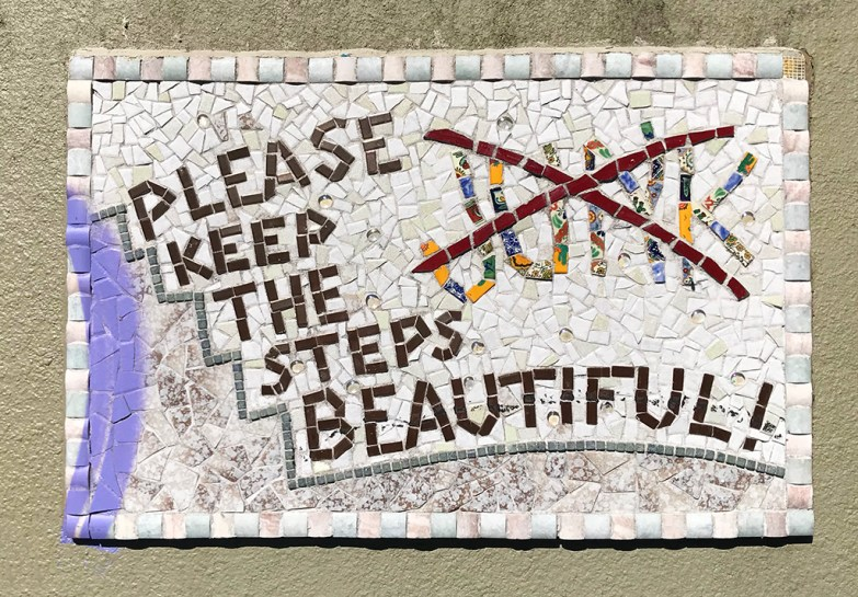 Mosaic Tile Sign