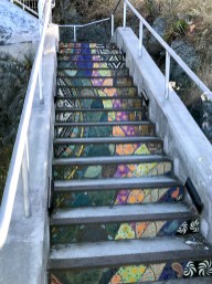 Mosaic Tiled Staircase in San Francisco's Bayview District