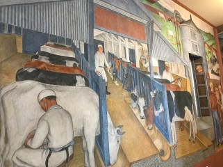 Murals at Coit Tower of A Dairy Farm