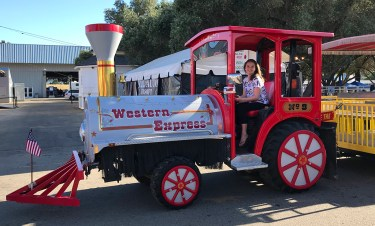 Natalie Bourn Driving The Sacramento County Fair