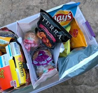 Organizing Road Trip Food