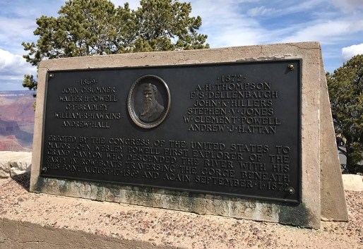 Plaque at Powell Point