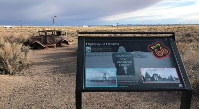 Route 66 Monument at Petrified Forest National Park