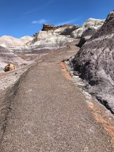 The Steep But Paved Blue Mesa Trail through Gorgeous Striped Desert Badlands