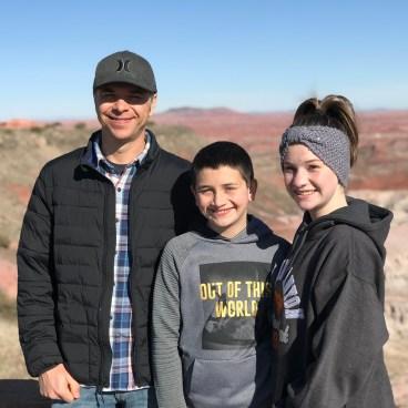 Brian, Carter, and Natalie Bourn at Tawa Point