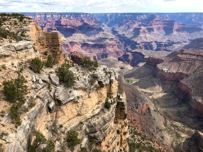 Trailview Point Overlook Off Hermit Road at Grand Canyon