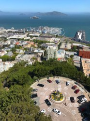 View of Alcatraz From Coit Tower Observation Deck