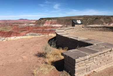 Whipple Point Scenic Lookout Over The Arizona Painted Desert