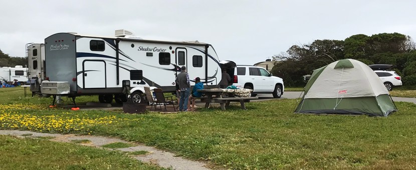 Camping at Francis State Beach Campground