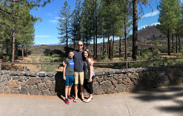 Carter, Brian, and Natalie Bourn at the Newberry Lava Butte