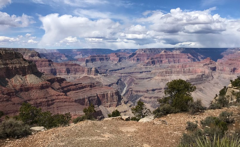 Grand Canyon Views From The Paved Greenway Trail