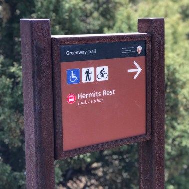 Greenway Trail Sign To Hermit's Rest