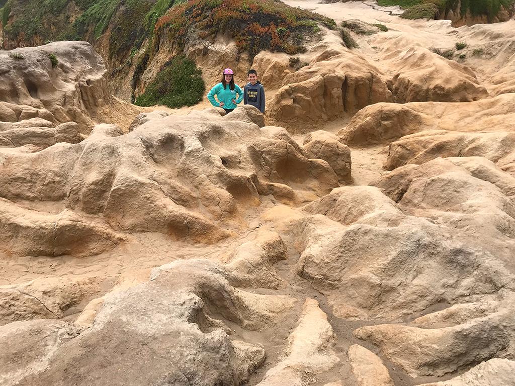 Natalie and Carter Bourn at Pescadero State Beach