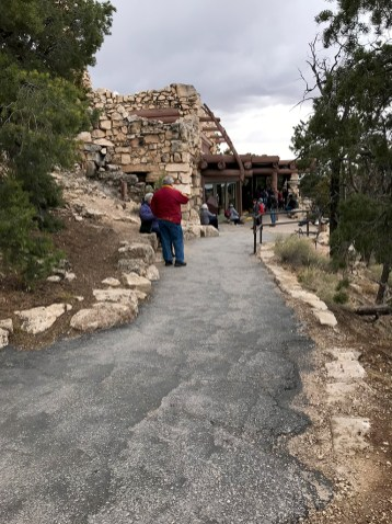 Walkway to Hermit's Rest at Grand Canyon National Park