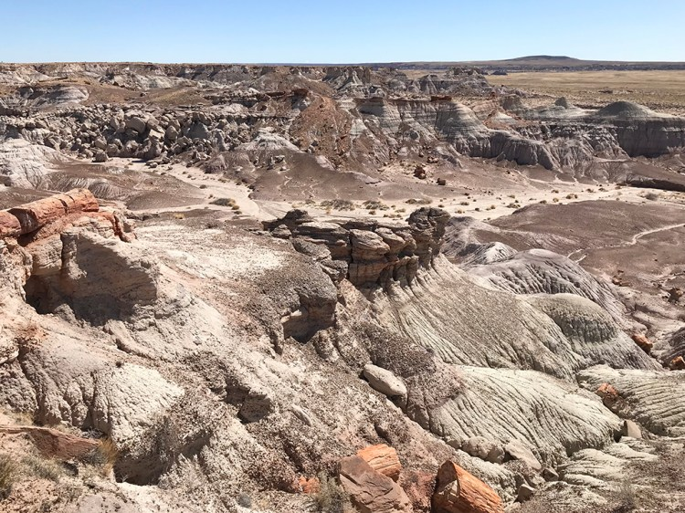 Views From Blue Mesa Road Of Arizona's Painted Desert