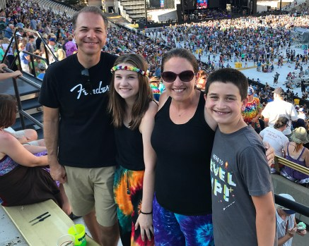 Bourn Family At A Dead & Company Concert