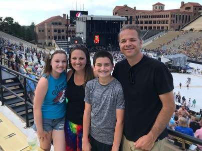 Bourn Family Seeing Dead & Company at Folsom Field