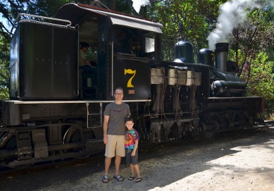 Brian and Carter Bourn at Roaring Camp in 2013