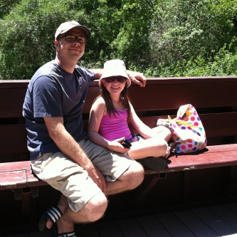 Brian and Natalie Bourn Riding the Roaring Camp Beach Train From Santa Cruz