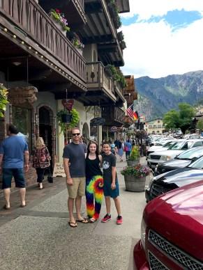Brian, Natalie, and Carter Bourn Day Trip to Leavenworth, Washington
