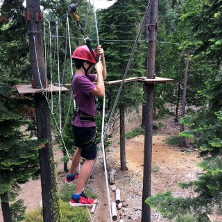 Carter Bourn Trying Out The Tahoe Treetop Adventure Park
