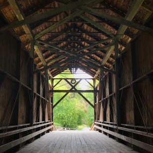 Looking Through The Historic Felton Covered Bridge