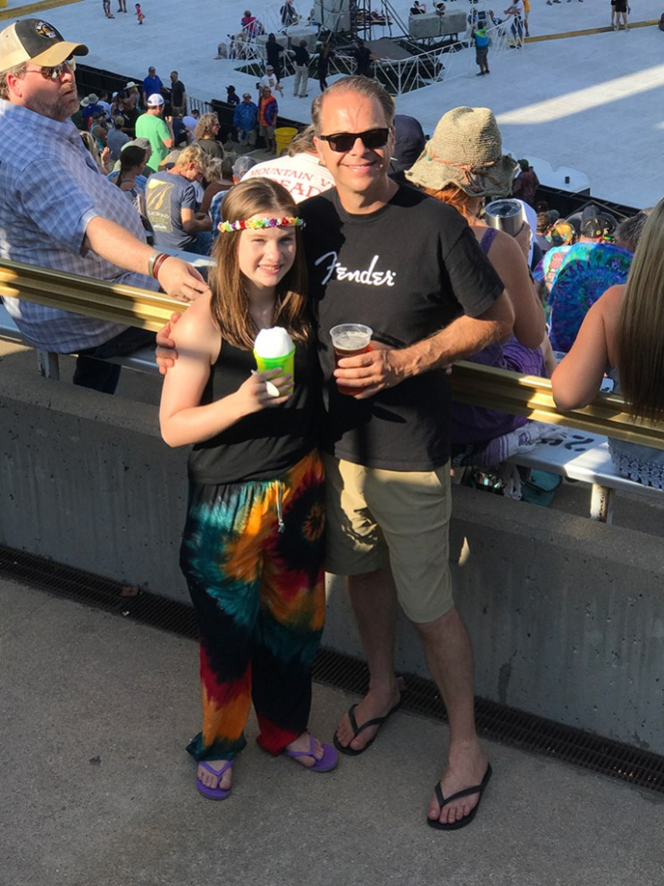 Natalie and Brian Bourn at Dead & Company Concert on July 14, 2018